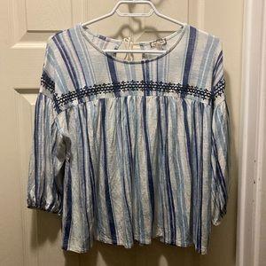 Eyeshadow striped boho loose blouse medium